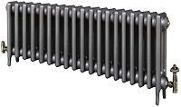 Eastgate Victoriana 3 Column 19 Section Cast Iron Radiator 450mm High x 1178mm Wide - Metallic Finish